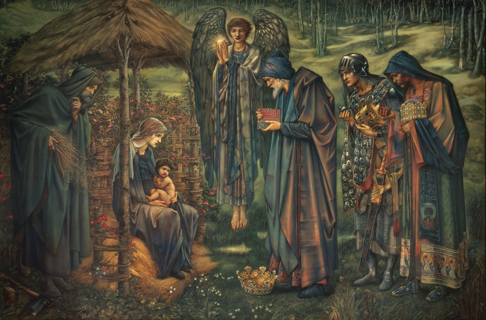 painting of magi visiting baby jesus www.atozmomm.com