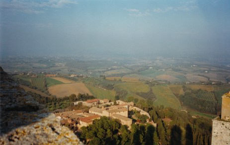 View across Tuscany from the tower