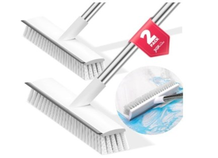 JIGA 2 Pack Floor Scrubgrout  Brush with Long Handle