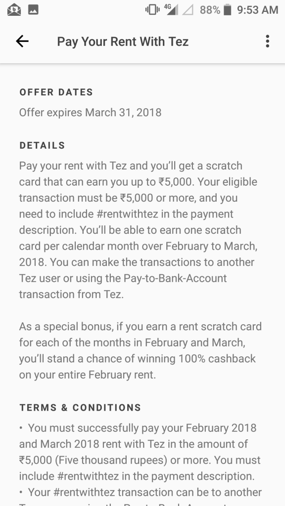Pay Rent With TEZ Earn Upto 5k Cashback 2