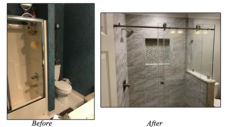 A To Z Turnover Services Shower Renovation