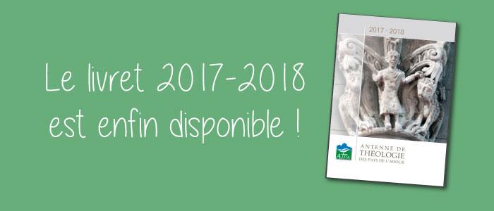 Le livret 2017-2018 de l'ATPA est disponible !