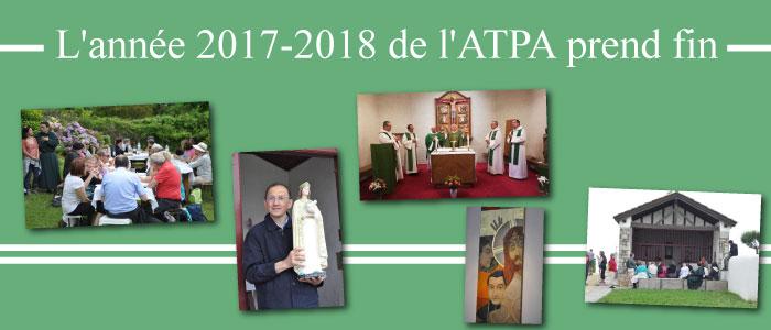 L'année 2017-2018 de l'ATPA prend fin