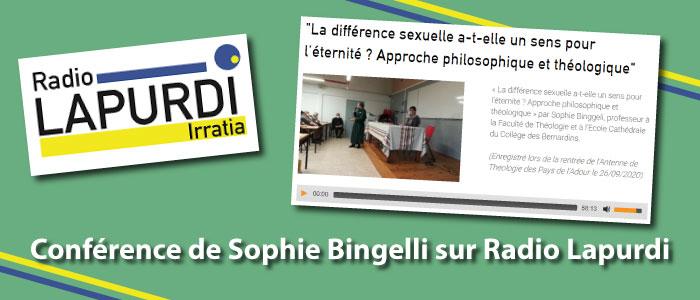 conférence de Sophie Bingelli passe sur Radio Lapurdi