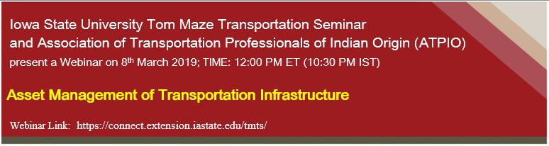 Webinar: Asset Management of Transportation Infrastructure