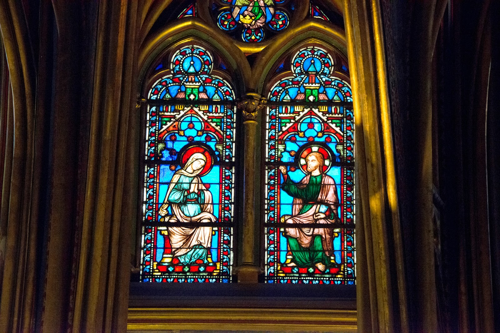 The Stained Glass of La Sainte-Chapelle, Paris, France