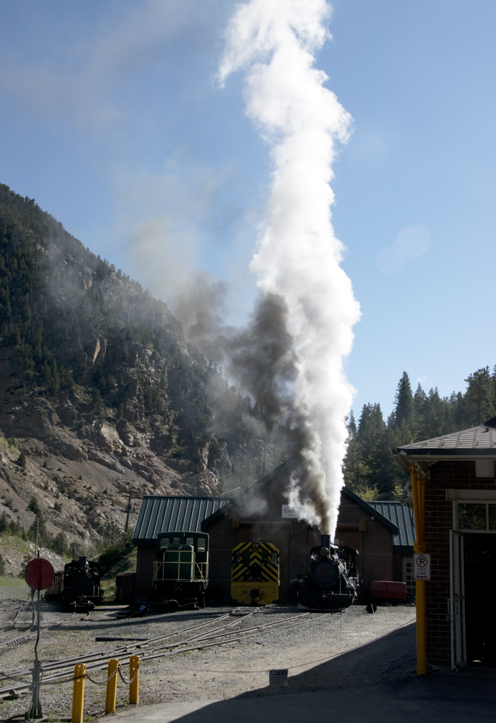 Historic Georgetown Loop Railroad Steam Train in Silver Plume, Colorado