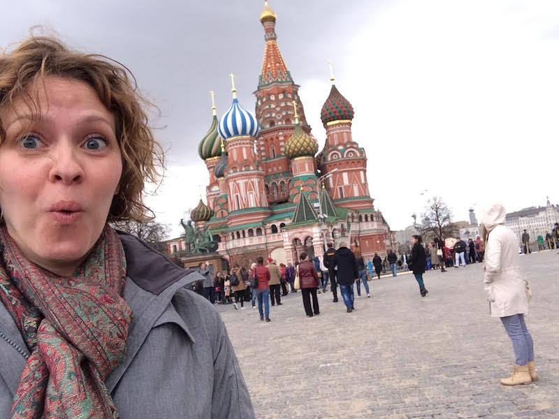 Trish Collins in Moscow