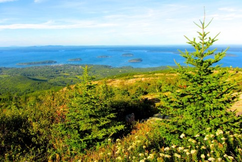 Cadillac Mountain in Acadia National Park, Maine