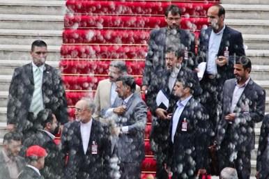 LLEGADA DEL PRESIDENTE DE LA REPUBLICA ISLAMICA DE IRAN MAHMUD AHMADINEYAD