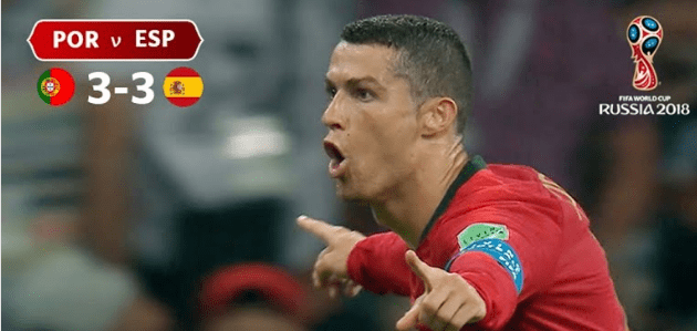 Cristiano Ronaldo in World Cup Match