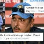Memes Of #SackRaviShastri