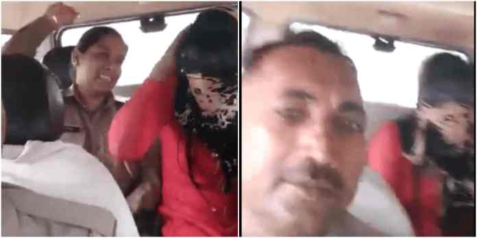 A Shocking Video went viral where cop is assulting a girl for choosing Muslim partner