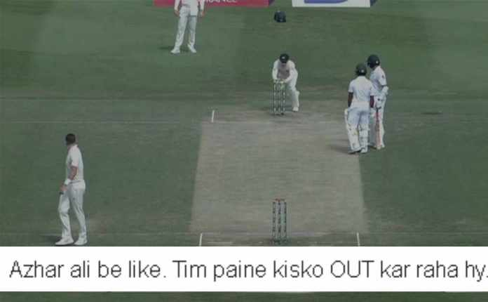 Azhar Ali bizarre run out