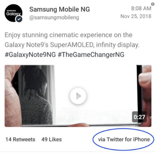 Samsung troll