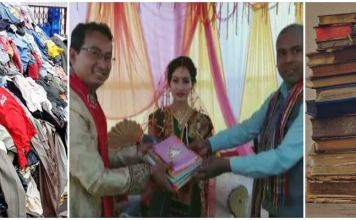 Guest Brought Old Books, Clothes For The Newlyweds As A Gift In This Assam Wedding
