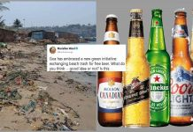 Get free beer in exchange of garbage