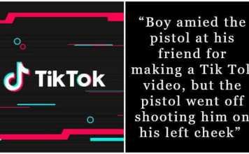 Filming TikTok video take life