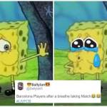 Barca trolled for giving up 3 goal lead