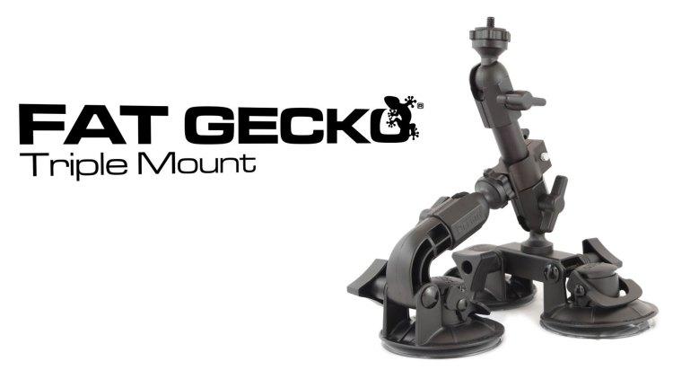 Delkin Fat Gecko triple suction mount