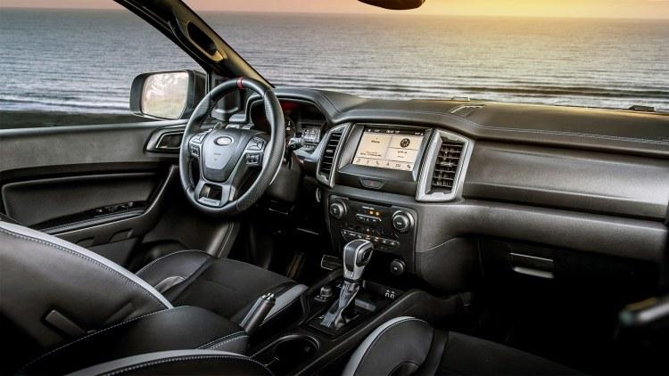 Ford Ranger Raptor cockpit interior