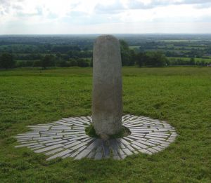 The Lia Fail, the phallic stone that is said to scream for the rightful High King