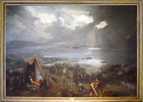 The Battle of Clontarf by Hugh Frazier, an example of the battle as nationalistic propaganda. (source: wikipedia commons)