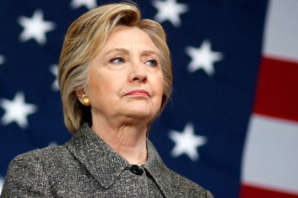 Democratic presidential candidate Hillary Clinton waits to be introduced during a campaign event at Western Technical College in La Crosse, Wis., Tuesday, March 29, 2016. (AP Photo/Patrick Semansky)