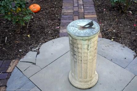 Sundial at the President Benjamin Harrison home.