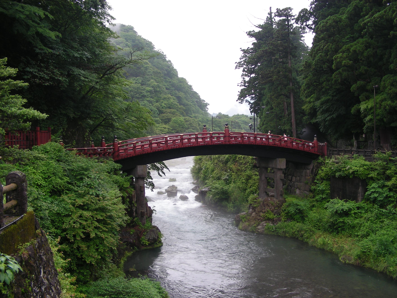 Vista del puente de Nikko