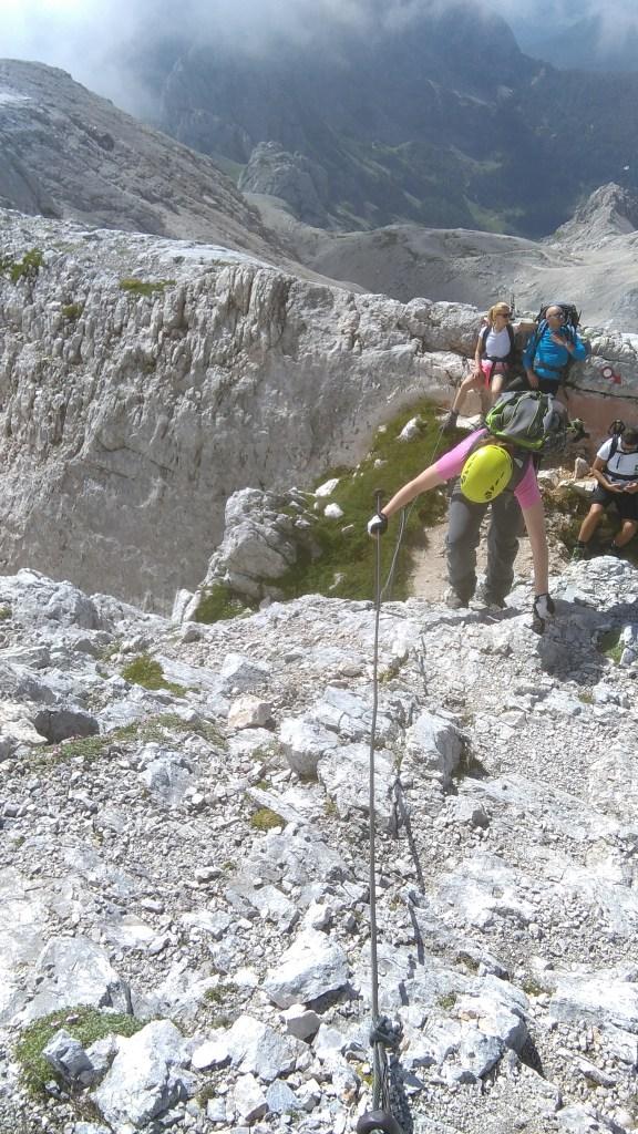 Durante la ascension al Triglav