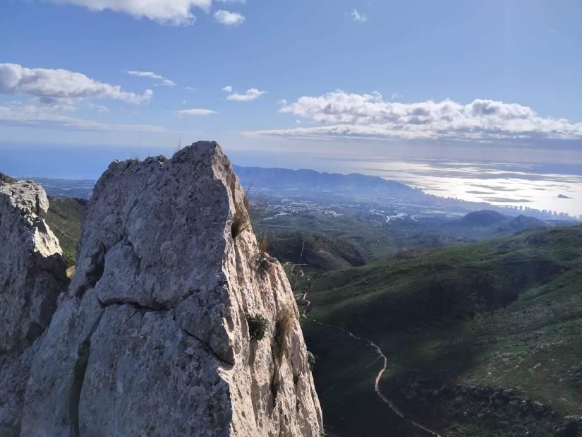 Mar desde Puig Campana