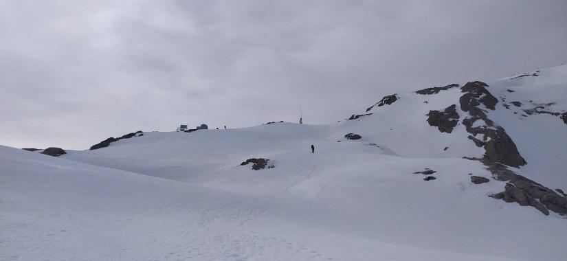 Vista invernal de Cantabria