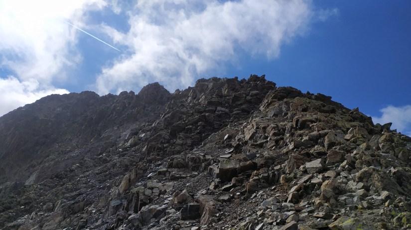 Cresta de montaña
