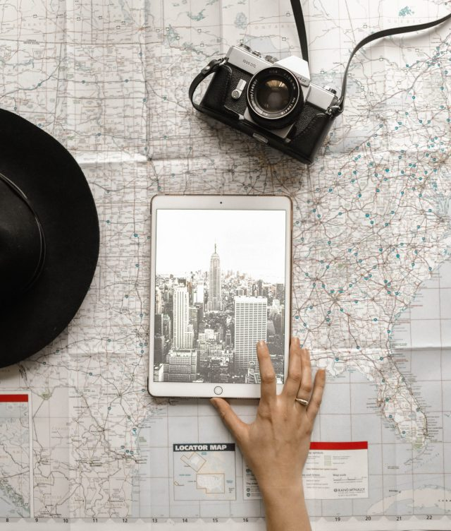 Adventure planning using an iPad, a map, and a camera