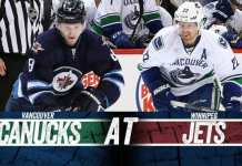 Vancouver Canucks at Winnipeg Jets
