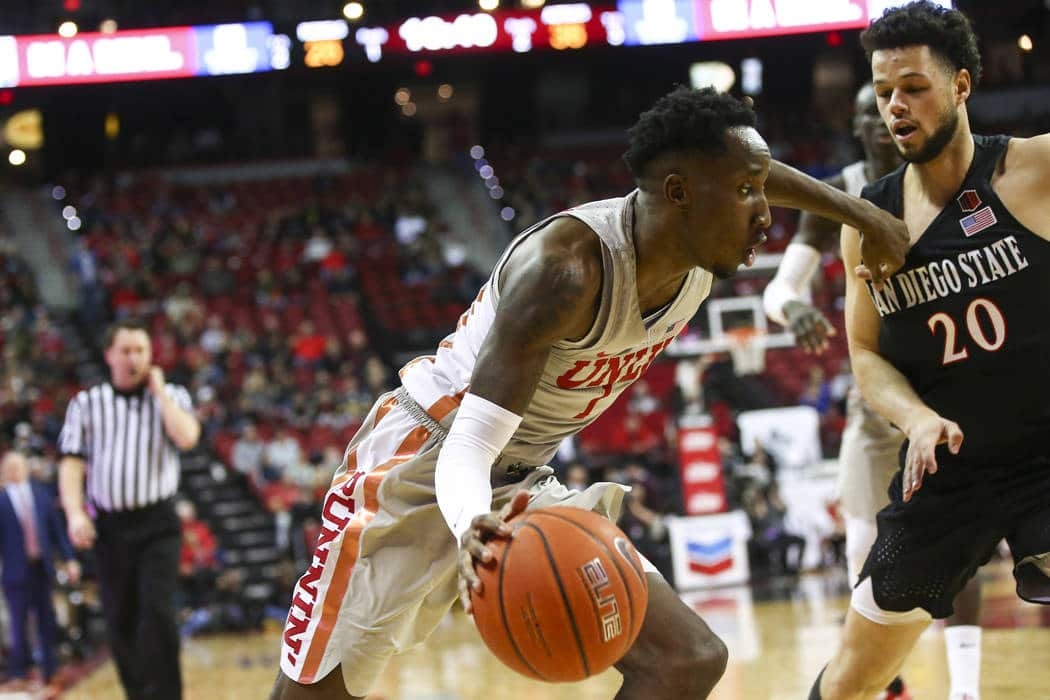 UNLV looks to knock off No. 4 San Diego St.