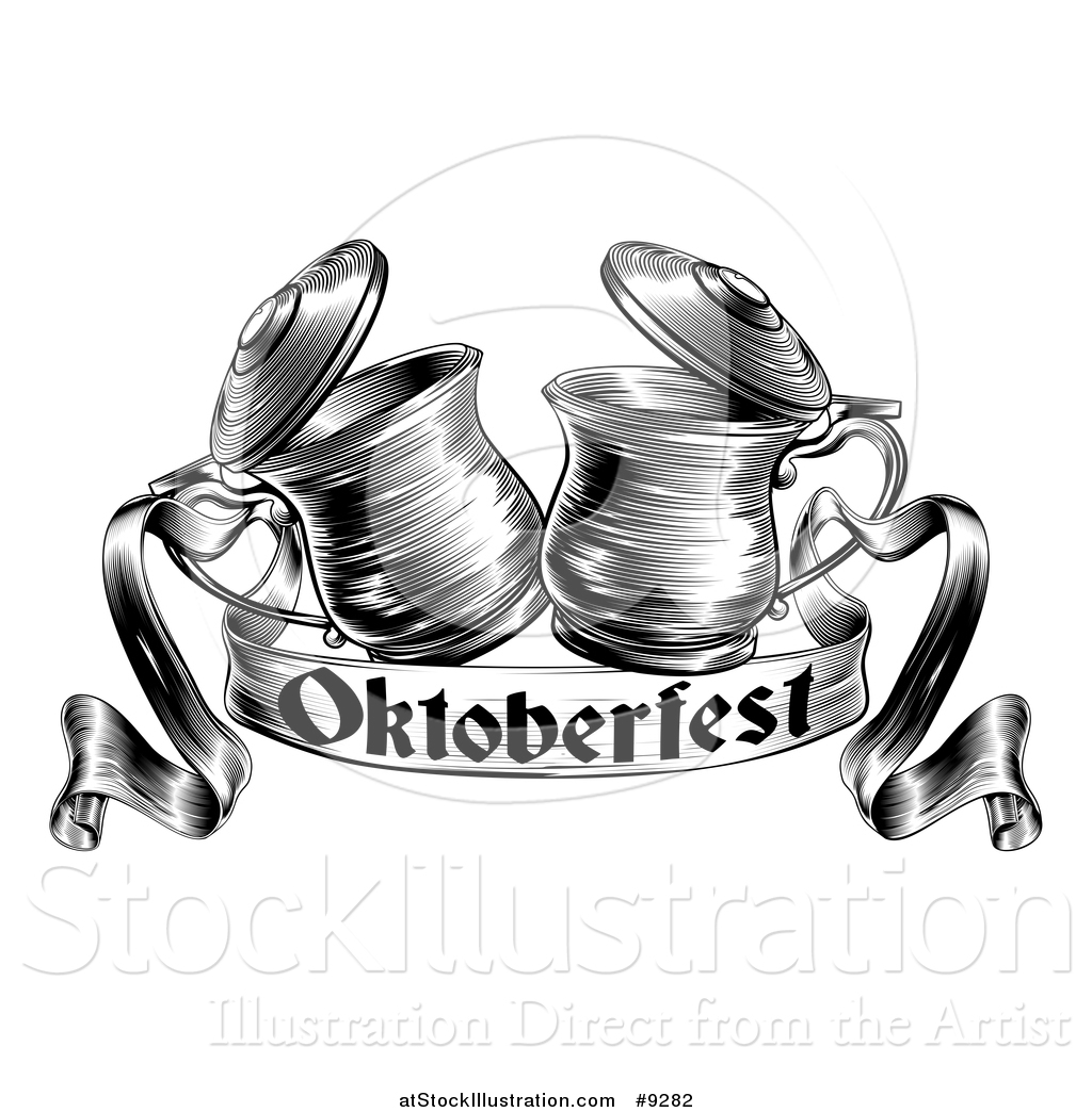Vector Illustration Of A Black And White Woodcut Or