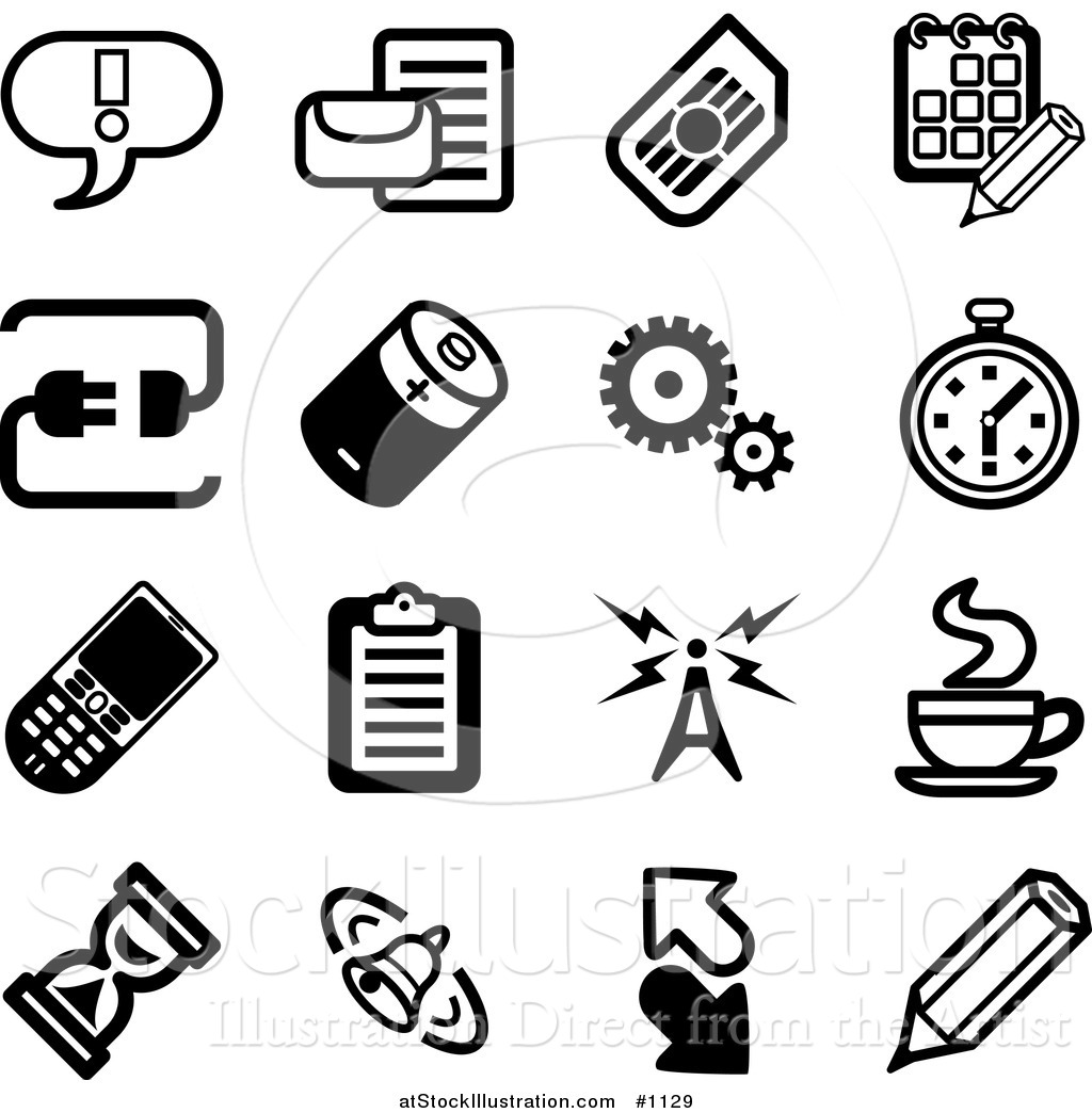 Vector Illustration Of Black And White Exclamation Point