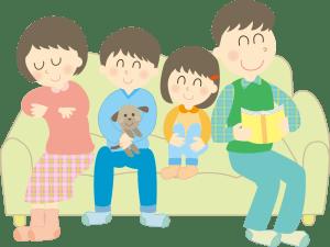 4人家族のイラスト