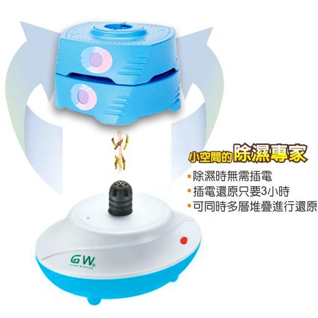 GW水玻璃 分離式直筒疊疊樂除濕機四件組|電電購