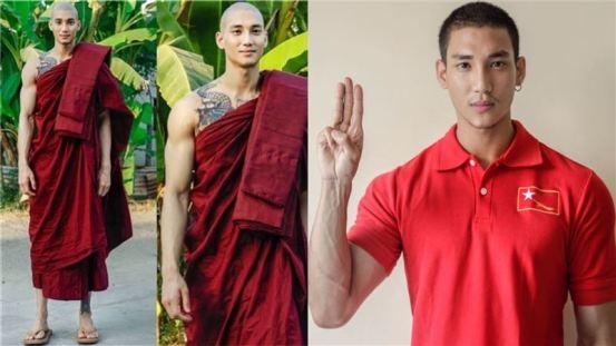 对抗缅甸政府! 表面上最英俊的和尚被50名士兵逮捕。 网络担忧:希望生活| 娱乐明星新闻| 三里新闻网SETN.COM