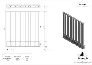 Liasion balustrade tech sheet