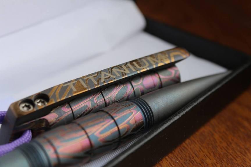 titanium ink pen DEMIDOV A. TACTICAL PEN 2