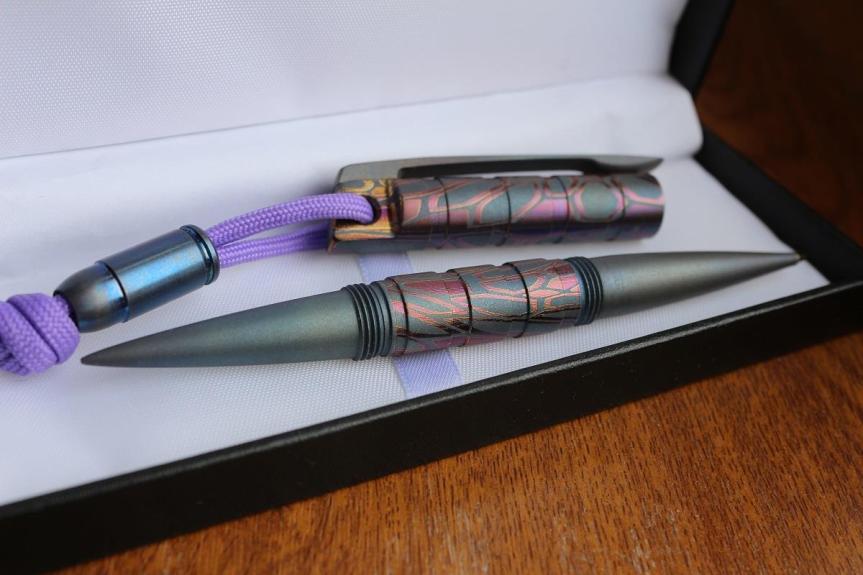 titanium ink pen DEMIDOV A. TACTICAL PEN 6
