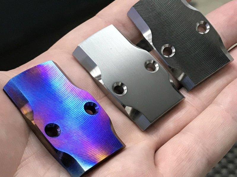 maple leaf firearms titanium rmr cover plates for glock pistol slides 4