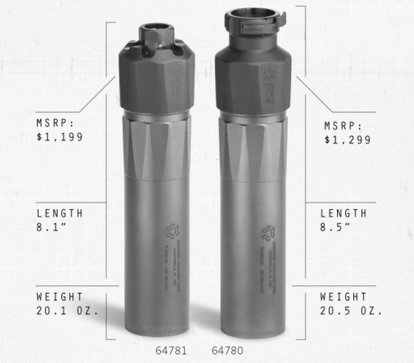 advanced armament corp aac ti-raid 30 silencer ti-raid 30 suppressor tiraid 30 silencer suppressor 5