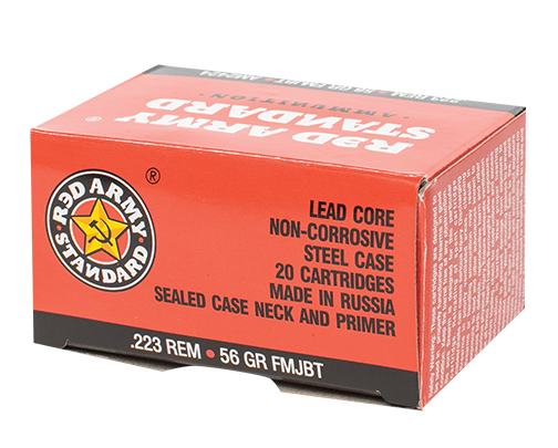 century arms Red Army Standard 223 Remington Ammo 56 Grain FMJ Steel Case TSAM2424 AM2424 78745043178 1