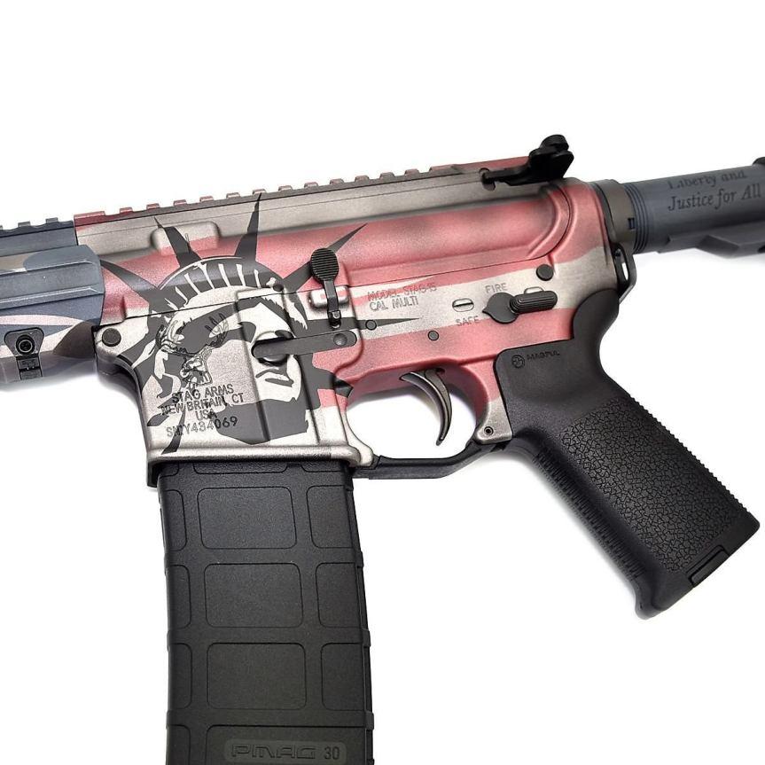 stag 15 ar15 american flag ar15 rifle cerakote custom ar15 stag15 indpendence rifle 3