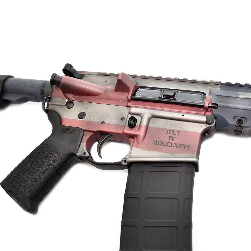 stag 15 ar15 american flag ar15 rifle cerakote custom ar15 stag15 indpendence rifle 4